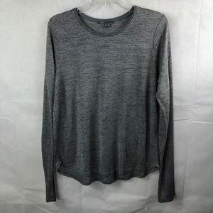 Vince Gray Long Sleeve Thin Knit Top Size Medium